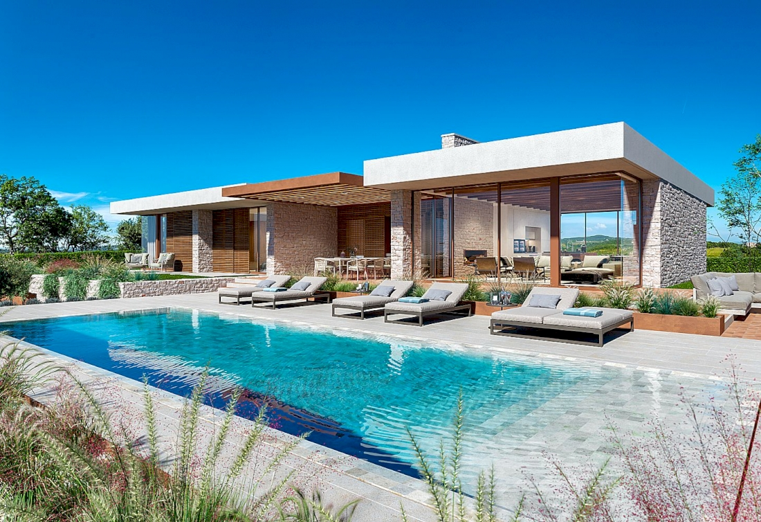 Modern luxury villas with sea view in Istria