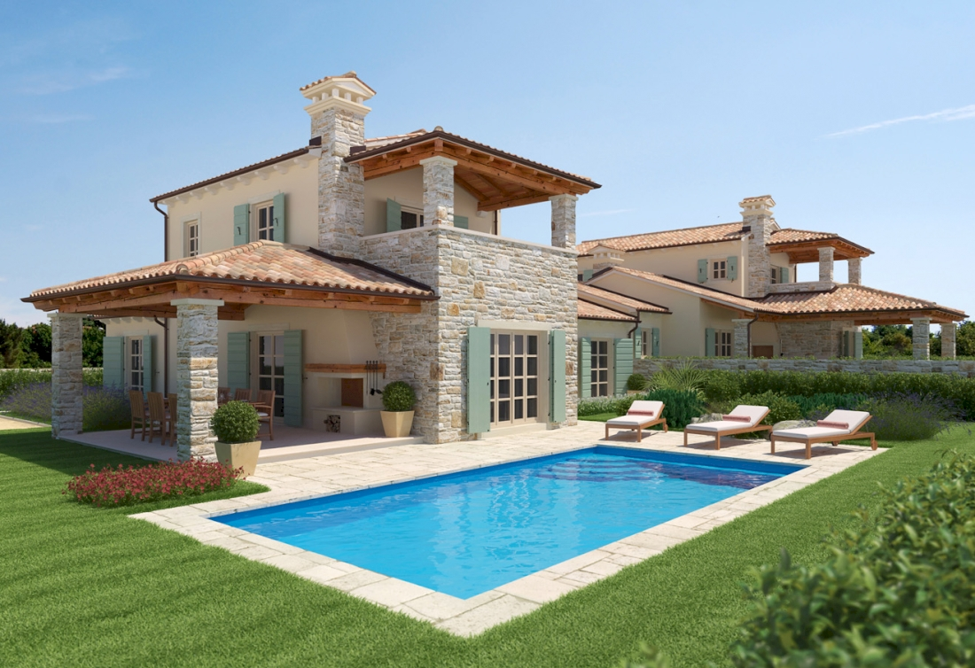 Rustic new real estate in Istria