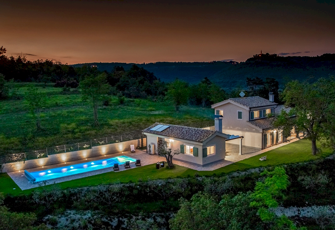 Gated estate with panoramic view for sale in Croatia, Istria