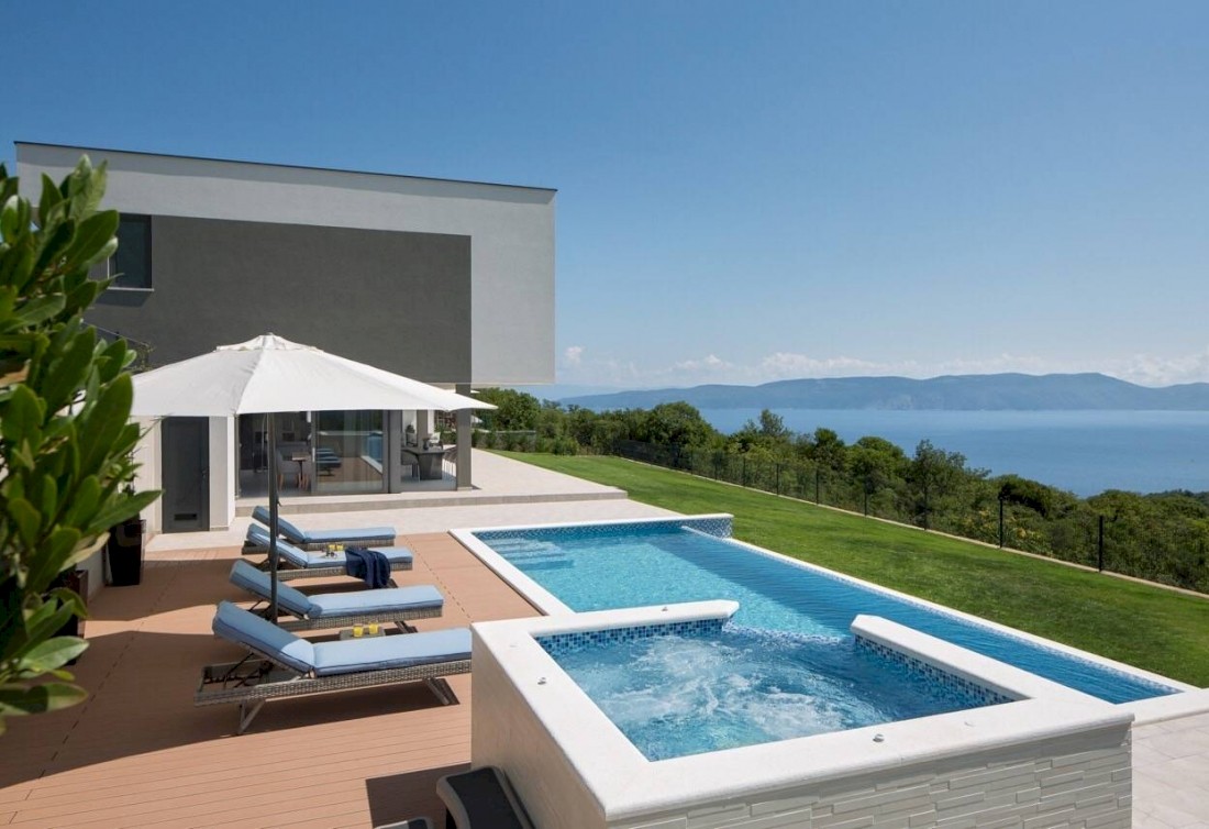 Modern villa for sale with the unobstructed sea view - Istria, East Coast