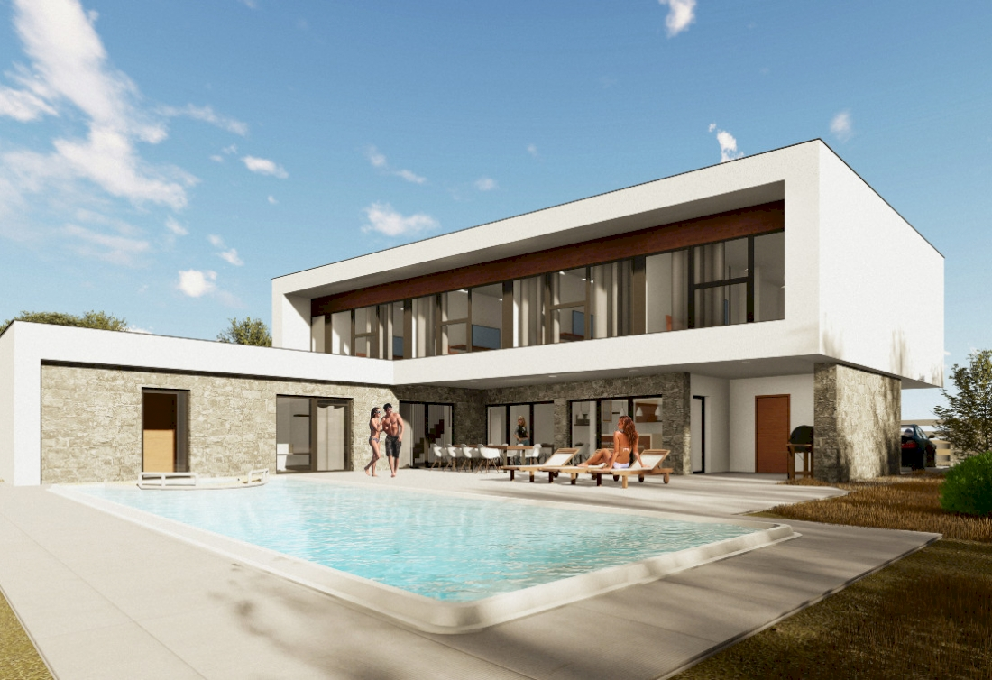 Istra - land with the building permit for modern villas